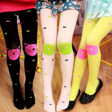 New Infant Accessories New Born Girl Long Stockings Baby Cute Lovely Cat Animal Over Knee High Warm Leggings