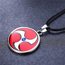 anime Naruto red round shape Naruto Uchiha Itachi Mangekyou Sharingan pendant  Necklace metal necklace cosplay jewelry