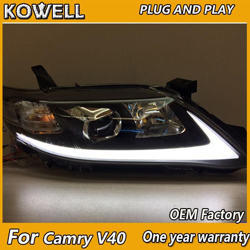 KOWELL Car Styling For Toyota Camry V40 USA Style 2009 2010 2011 LED Light Headight Bi Xenon Head Lamp Front Light