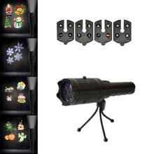Christmas Laser Lights Halloween Projector Flashlight With 4/12 Cards Lamp Laser Projector Lamps Indoor Outdoor Decoration Light цена и фото