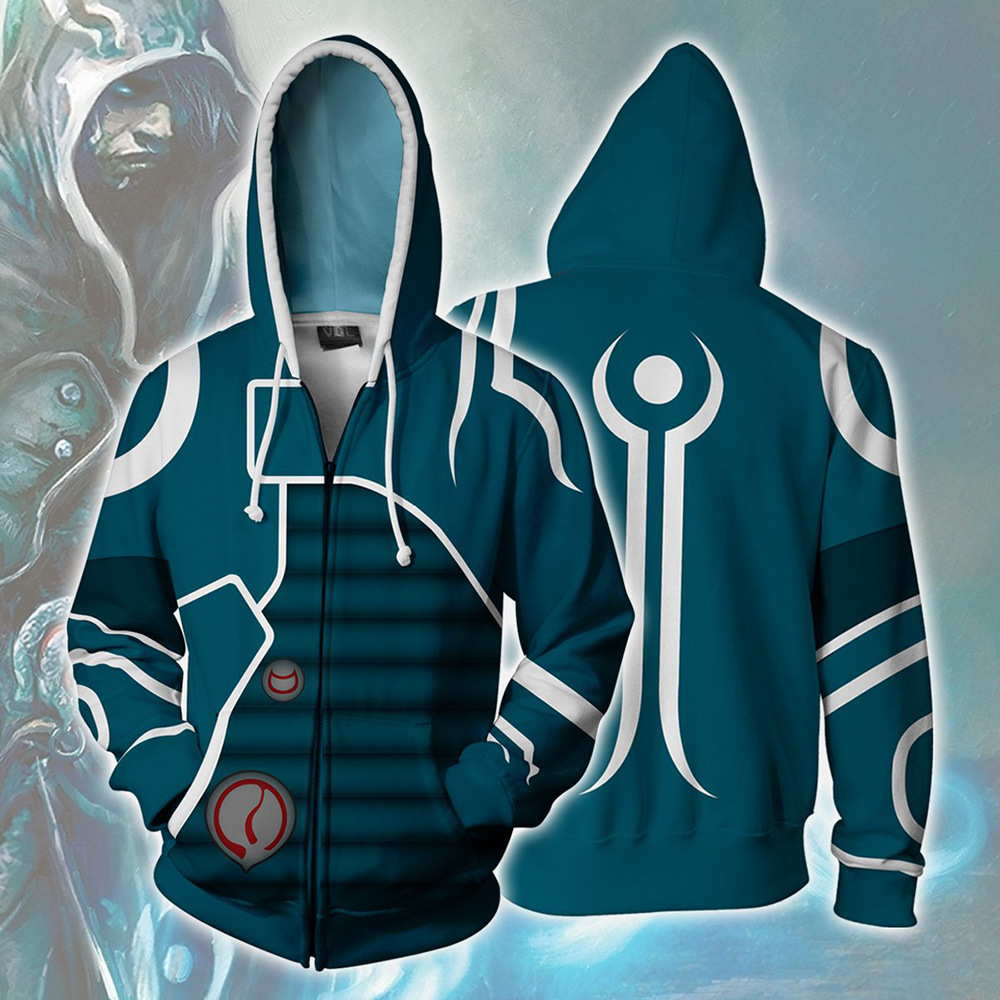 The game role Jace Beleren Cosplay Costumes Zipper Hoodies Sweatshirts 3D Printing Unisex Adult  Clothing