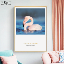 Grande Flamingo Wall Art Print and Poster Nordic Canvas Paintings Pictures for Girls Room Decoration