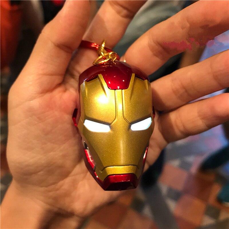 Les Avengers 4 porte-clés lumineux fer homme plaqué acier mignon porte-clés pendentif armure chiffres Morden Toys M801