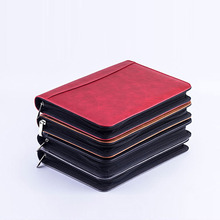 A5 Notebook Briefcase Fichario File Folder PU Leather Padfolio With Calculator Zipper Binder Diary 2020 Agendas Office Note Book