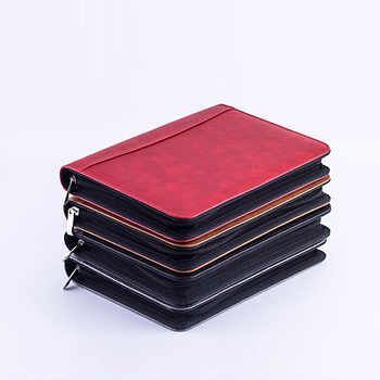 A5 Notebook Briefcase Fichario File Folder PU Leather Padfolio With Calculator Zipper Binder Diary 2020 Agendas Office Note Book - DISCOUNT ITEM  45% OFF All Category