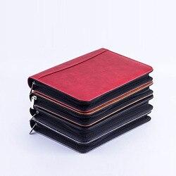 A5 Notebook Valigetta Fichario Cartella Archivio Cuoio DELL'UNITÀ di elaborazione di Padfolio Con Chiusura Lampo Calcolatrice Diario Agenda Ufficio Nota Libro