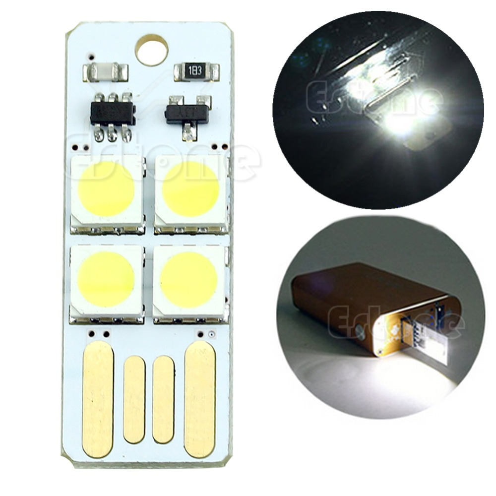 El Products 10pcs Mini Night Usb Led Keychain Portable Power White Board Pocket Card Lamp Bulb Led Online Discount