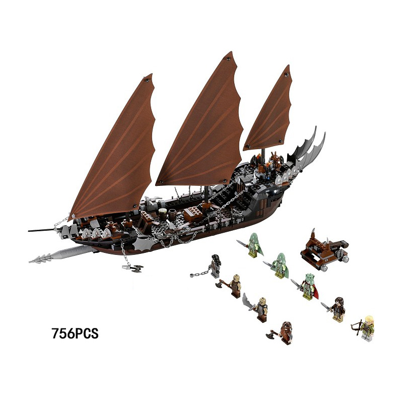 Hot movie Lord of the rings pirate ship ambush building block mini Legolas ghost Undead King figures lepine 79008 toys for boys 1 6 scale full set soldier the lord of the rings elven prince legolas action figure toys model for collections
