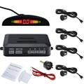 Car Auto Parktronic Sensor de Aparcamiento LED Con 4 Sensores de Reserva Del Revés Del Coche Del Radar Del Estacionamiento Sistema de Retroiluminación de Pantalla Del Monitor Del Detector
