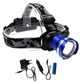 NEW Design HeadLight CREE XML T6 LED 3 Mode Waterproof Zoom Focus Front Light aaa LED HeadLamp 18650 camping fishing