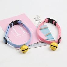 Pet cartoon collar dog cat bell lovely adjustable necklace manufacturers direct sale
