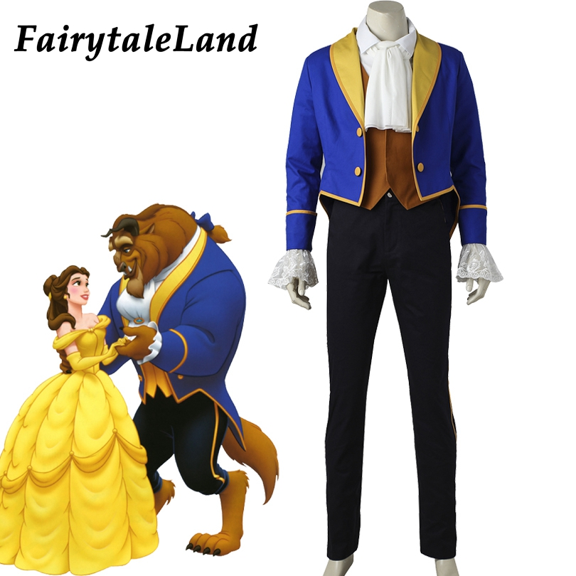 Beast Cosplay Costume adult Fancy Costumes Prince Beast costume suit Beauty and The Beast Cosplay Halloween clothing custom made