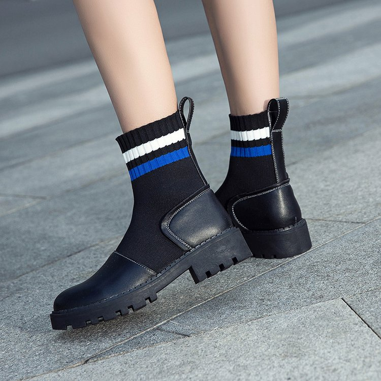 Knitting Women Socks Boots Elastic Winter Ankle Boots Women s Shoes Female  Martin Boots English Platform Shoes-in Ankle Boots from Shoes on  Aliexpress.com ... 3f542dbb6793