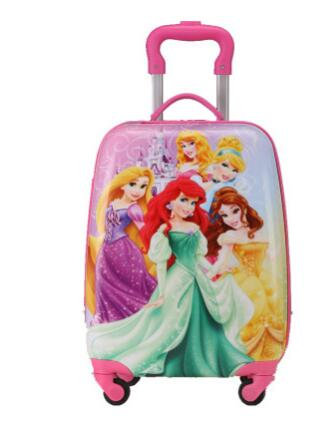 2017 Cartoon Kid's Travel Trolley Bags wheeled suitcase for kids Children luggage suitcase Rolling Case travel bag on wheels vintage suitcase 20 26 pu leather travel suitcase scratch resistant rolling luggage bags suitcase with tsa lock