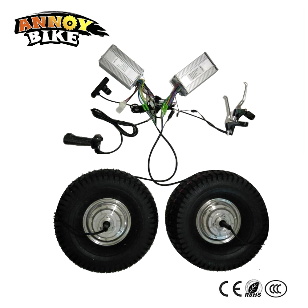 US $427 5 |Dual Drive Scooter DIY Electric Bicycle Motor kit 15'' 24V 48V  250W 800W 12 55KM/h BLDC Gear less Electric Hub Motor Ebike-in Electric