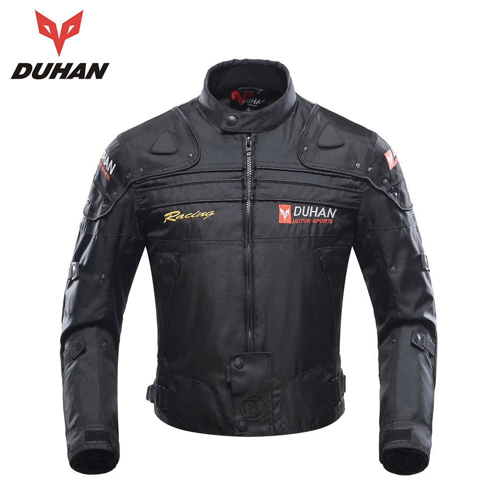 DUHAN Motorcycle Jackets Men Motocross Off-Road Racing  Body Armor Protective Moto Jacket Motorbike Windproof Jaqueta Clothing professional motorcycle jacket men s motocross off road racing jacket body armor riding motorcycle pants clothing set black