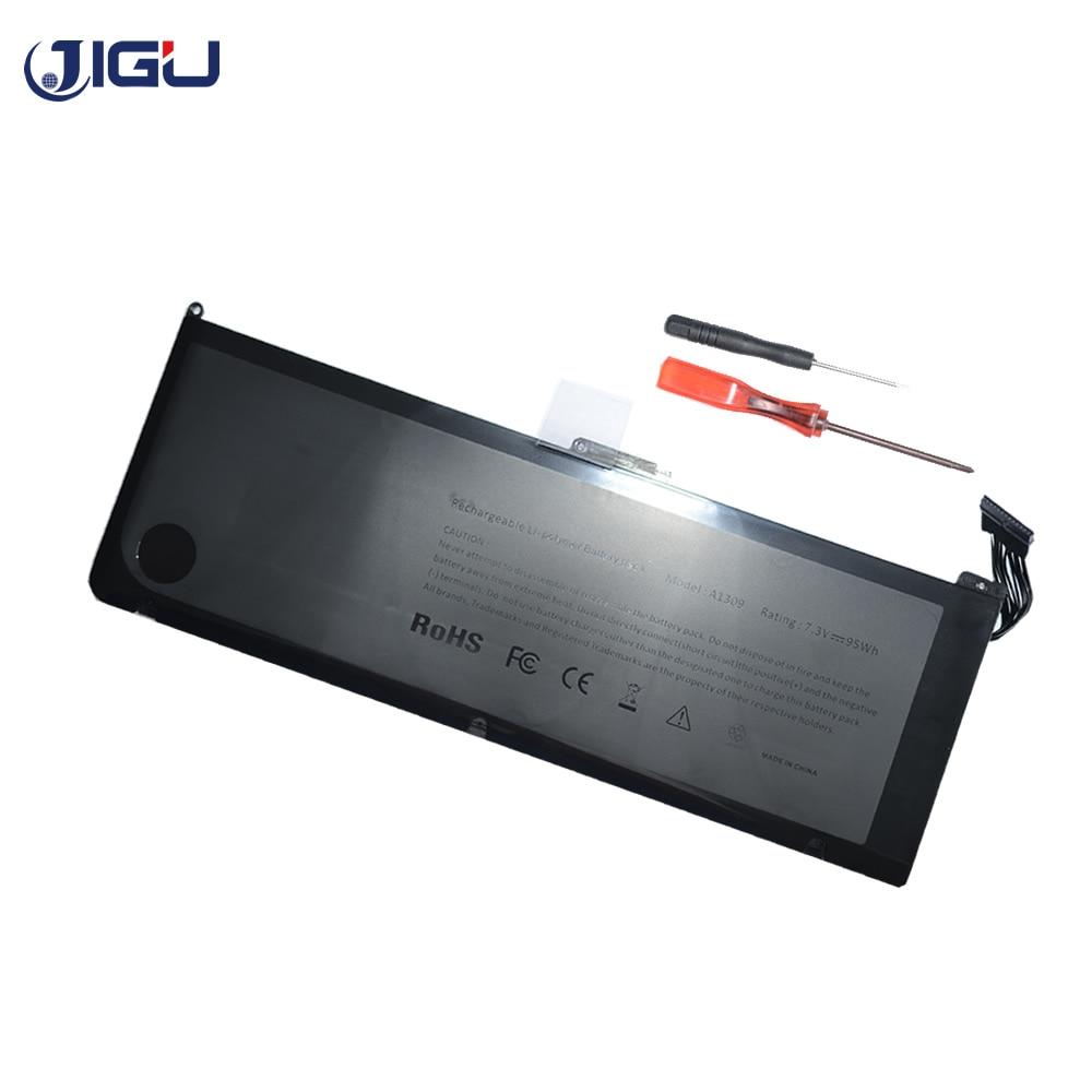 цена на JIGU Laptop Battery For Apple A1309 MacBook Pro 17