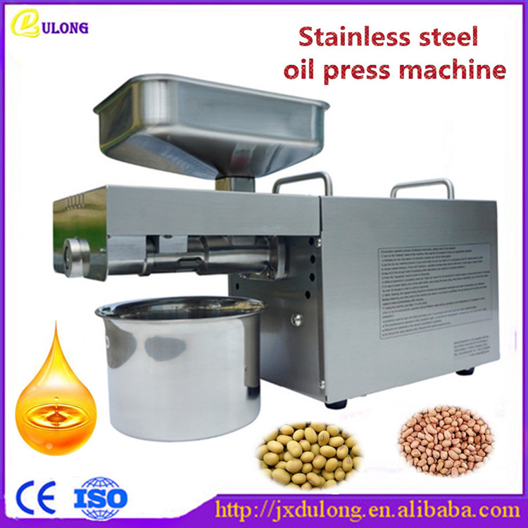 Stainless steel automatic small seed oil extraction machine, cold oil press,  mini oil press machine for home