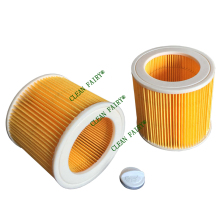 Cleanfairy 2pcs cartridge air filters compatible with Karcher WD2.200 WD3.200, WD3.500 A1000 A2200 replacement for KAR/64145520