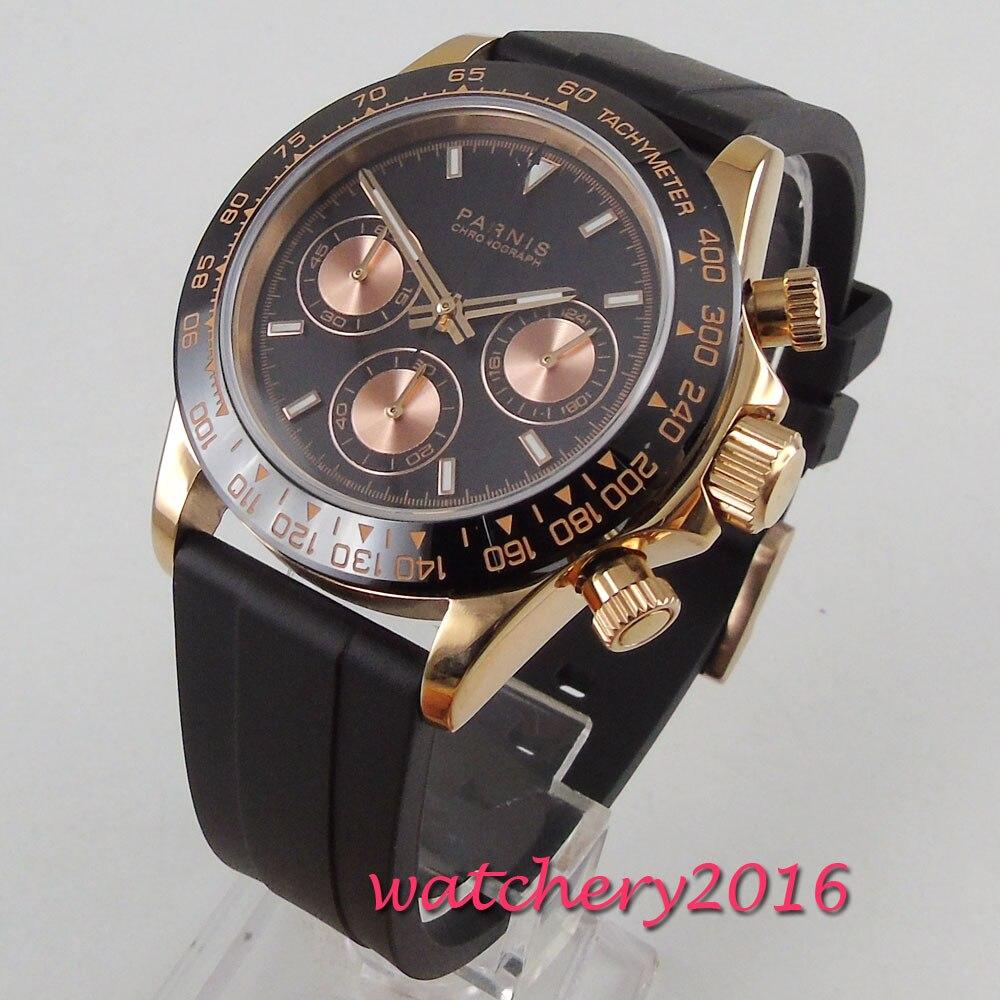 Parnis 39mm zegarki mechaniczne szafirowe mężczyzna zegarek 2019 zegarek kwarcowy relogio masculino rolę luksusowe zegarka mężczyzna w Zegarki kwarcowe od Zegarki na  Grupa 2