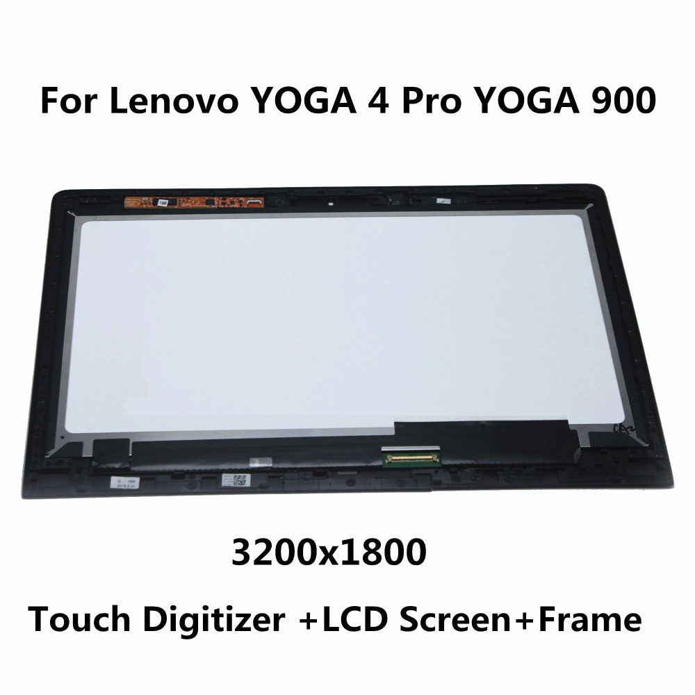 Laptop LED Assembly For Lenovo YOGA 4 Pro Yoga 900-13ISK2 80UE LCD Display Touch Screen Digitizer Panel Replacement Part + Frame