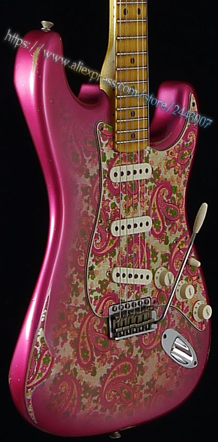 GC Custom Shop Yuriy Shishkov Masterbuilt 68 Pink Paisley Relic Electric Guitar custom shop handmade telecast electric guitar limited andy tele version master build relic tl guitar boom switch h s control
