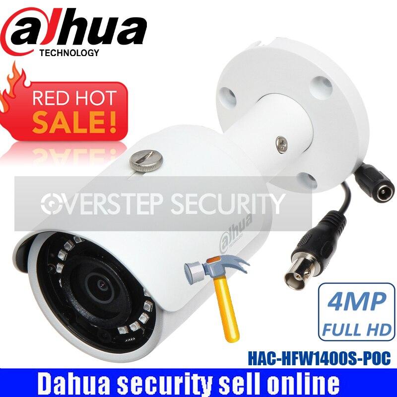 Dahua английский прошивки HCVR Камера HAC-HFW1400S-POC 4MP HDCVI PoC/12VDC пуля ИК Камера DH-HAC-HFW1400S-POC cvi Камера
