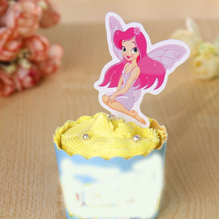 Fairy Birthday Party Decorations Compare Prices On Fairy Princess Cupcakes Online Shopping Buy Low