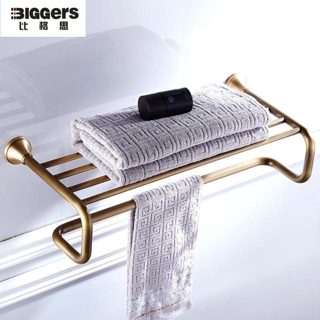 antique bronze bathroom accessories european style vintage copper bath towel rack towel hanging shelf