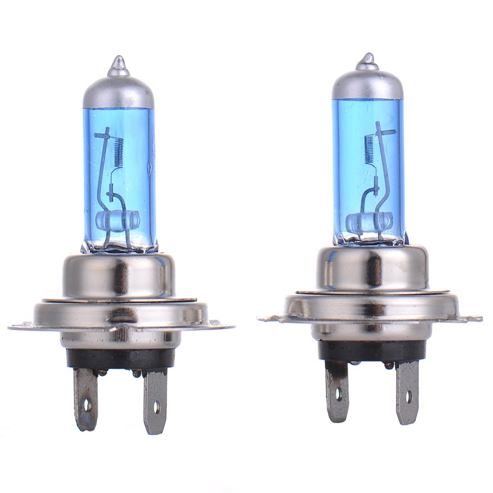 2pcs H7 55W 12V Halogen Bulb Super Xenon White Fog Lights High Power Car Headlight Lamp Car Light Source parking 5000K auto  2pcs h7 5000k halogen bulb super xenon white 55w fog lights headlight lamp car light source parking 12v car styling