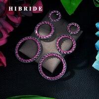 HIBRIDE Luxury AAA Cubic Zirconia Pendant Big Drop Earring boucle d'oreille femme 2019 Luxury Jewelry Earrings Trendy E 88