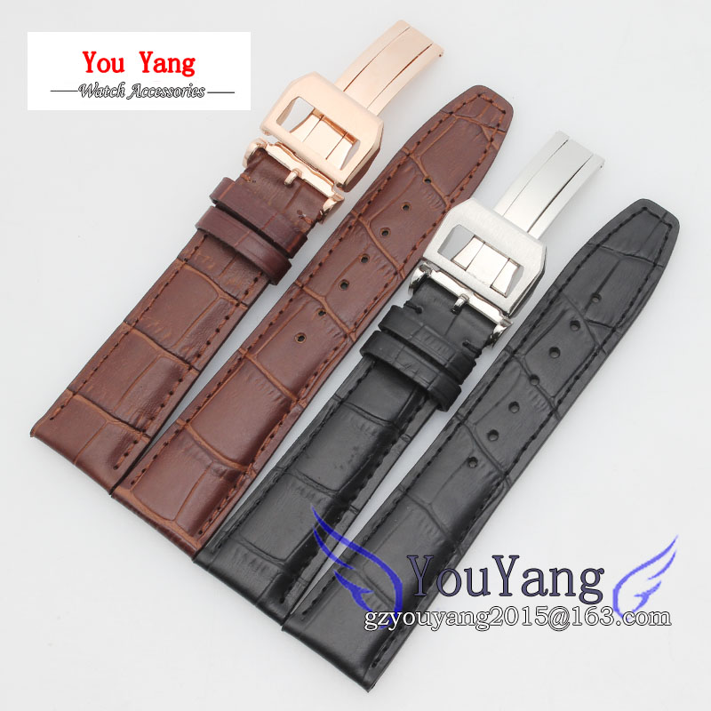 20mm 21mm 22mm Alligator Pattern New Men Black Genuine Leather Watch Band Strap Bracelets Deployment Clasp For Pilot alligator leather watchband brand style straps bracelets wristwatches accessories with free buckle deployment 20mm 21mm 22mm new