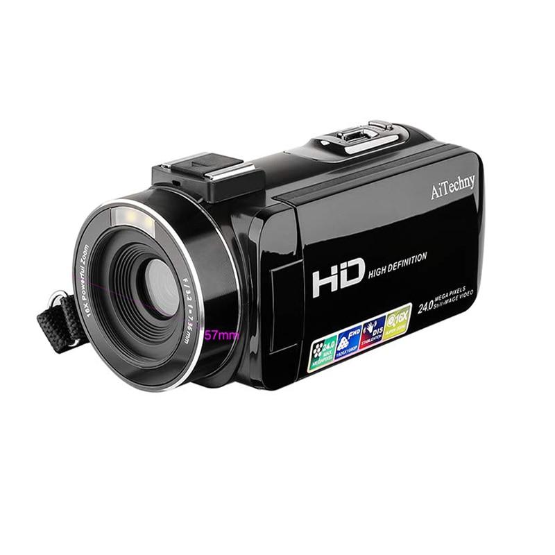 Camcorder, Digital Video Camera Full Hd 1080P 24.0Mp 3.0 Inch Lcd 270 Degrees Rotatable Screen 16X Digital Zoom Camera RecordeCamcorder, Digital Video Camera Full Hd 1080P 24.0Mp 3.0 Inch Lcd 270 Degrees Rotatable Screen 16X Digital Zoom Camera Recorde