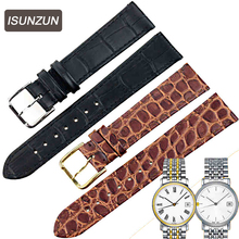 ISUNZUN Mens WatchBand For Tissot 1583 T52 Mind Watch Band T57/T95 Male Top Quality Ultrathin Genuine Leather Strap