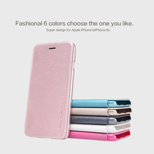 Чехол iphone 6 чехол NILLKIN Sparkle серхтонкий кожаный чехол Розничный пакет