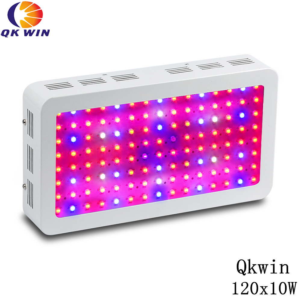 QKWIN 1200W LED Grow Light 120x10W double chip Full Spectrum LED Grow Lights For Indoor Plants Flowering And Growing qkwin super ufo 600w led grow light double chip 60x10w full spectrum led grow lights for indoor plants flowering and growing
