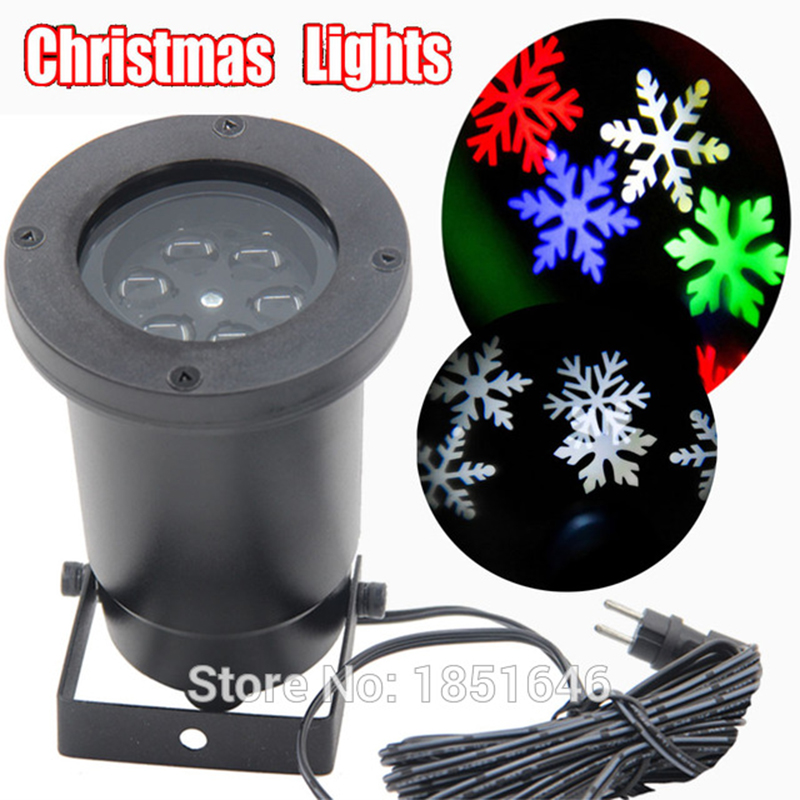 pattern 6W garden led light lighting waterproof outdoor christmas lights led Snowflake projector light show/lustres e pendentes christmas ball snowflake clock pattern waterproof table cloth
