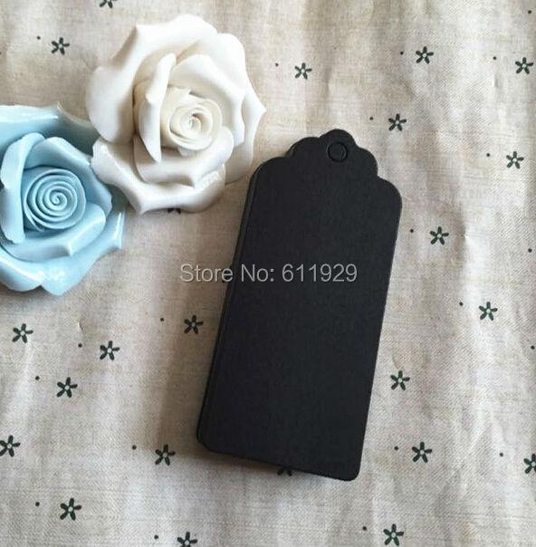 ebe4ed1864 Darmowa wysyłka 300 sztuk dużo puste 350 gsm czarny tag papieru 4x9  cm pieczenia cena tag odzieży zadrukowany papier tag dar pakowania tag