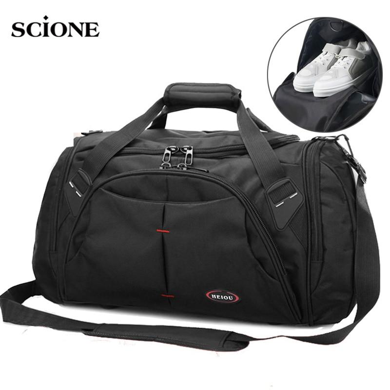 Men Sport Gym Bag Training Large Nylon Travel Handbag For Women Shoulder Luggage Pack Gymtas Tote Balso Sac De Sporttas XA812WA