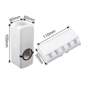 Image 2 - ชุดอุปกรณ์ห้องน้ำแปรงสีฟัน Automatic Toothpaste Dispenser ผู้ถือแปรงสีฟัน Wall Mount Rack ห้องน้ำชุดเครื่องมือ