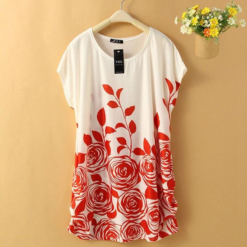 Shirt dress plus size verano mujeres dress túnica ocasional flojo floral dress f