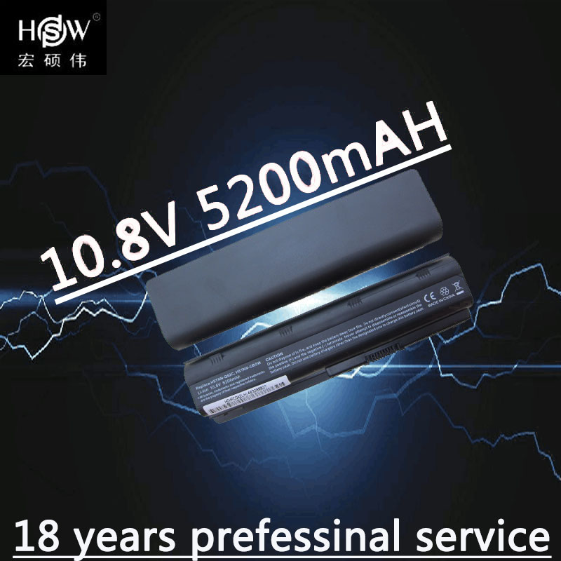HSW 5200MAH  6cells Battery Notebook Laptop Battery FOR HP Compaq MU06 MU09 CQ42 CQ32 G62 G72 G42 593553-001 DM4 Battery Battery