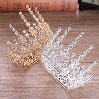 Irregular Full Circle Rhinestone Heightening Princess Crown Tiaras Headdress