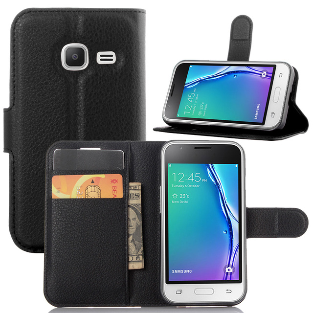 huge selection of 5a9ec e0550 Book Style PU Leather Case Cover for Samsung Galaxy J105 J1 Mini Flip  Wallet Phone Bags Cases with Stand
