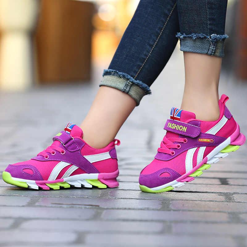 2019 yeni çocuk ayakkabıları erkek sneakers kızlar spor ayakkabılar boyutu 26-39 çocuk eğlence eğitmenler rahat nefes çocuklar koşu ayakkabıları