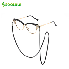 SOOLALA Metal Sunglasses Chain Black Silver Neck Chains Lanyard Vintage Eyewears Cord Holder Strap Rope for Glasses