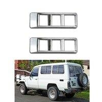 2pcs Car Side Body Air Vent Cover Trim For Toyota Land Cruiser FJ70 FJ76 FJ77 FJ78 FJ79 SUV 1984 1999