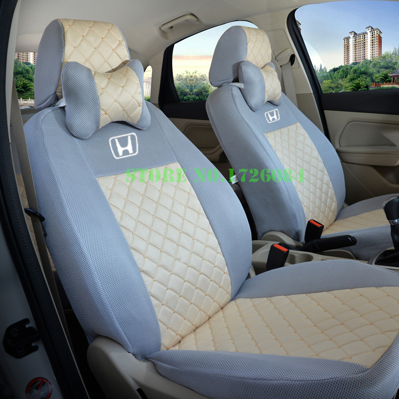 2 front seat universal car seat cover for honda civic accord fit element freed life zest black. Black Bedroom Furniture Sets. Home Design Ideas