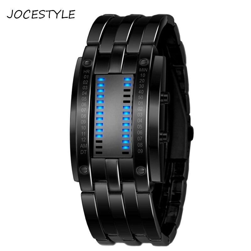 Relojes de pulsera m a prueba de agua 50 m con pantalla de reloj LED Digital para parejas amantes creativos de moda para hombres y mujeres