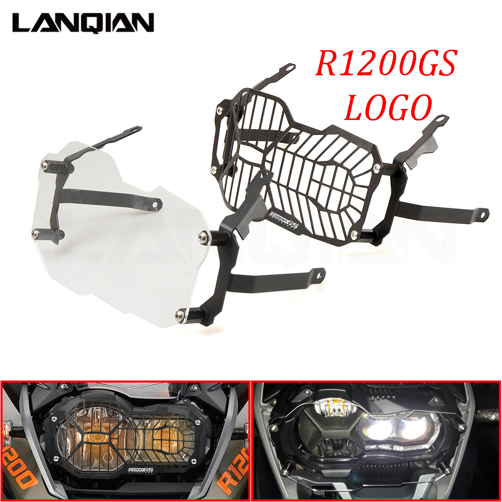 Hot For BMW R1200GS Headlight Protector Guard Lense Cover for BMW R 1200 GS Adventure 2013 2014 2015 2016 Water Cooled Models r1200gs motorcycle headlight grill guard cover protector for bmw r 1200 gs r1200gs adv adventure r 1200gs 2012 2016